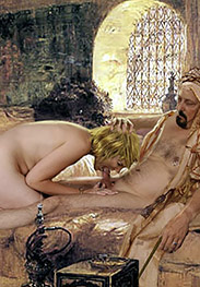 Slavegirls in an oriental world - The Sheik filled her with his semen and covered her face and breasts with it by Damian