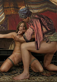 Slavegirls in an oriental world - Ahmed liked that because he liked burying his head between them and sniffing her cunt by Damian