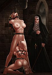 BDSM comics - Widening the maiden by Ferres